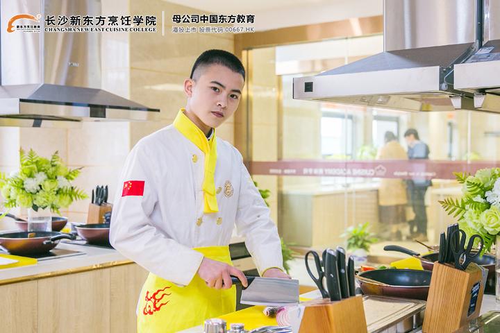 初中生学厨师